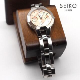 Grand Seiko - 《一点物》SEIKO lukia 腕時計 サーモンピンク トリプルカレンダー