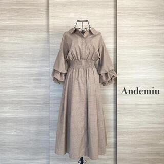 Andemiu - Andemiu  アンデミュウ ソデコンシャスシャツワンピ