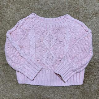 ベビーギャップ(babyGAP)のbaby GAPピンクセーター80(ニット/セーター)