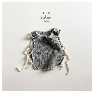 Caramel baby&child  - minirobe bebe ミニローブ スタイベスト グレー 韓国ベビー服
