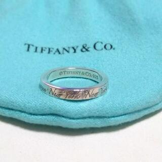 Tiffany & Co. - ティファニー ノーツナローリング 7号