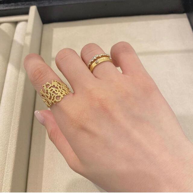 【クアラントット】Il sogno Ring K18YG 6.5号 レディースのアクセサリー(リング(指輪))の商品写真