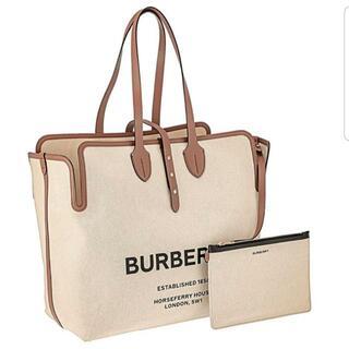 BURBERRY - ☆新品☆BURBERRY バーバリー キャンバス ロゴ ビッグトートバッグ