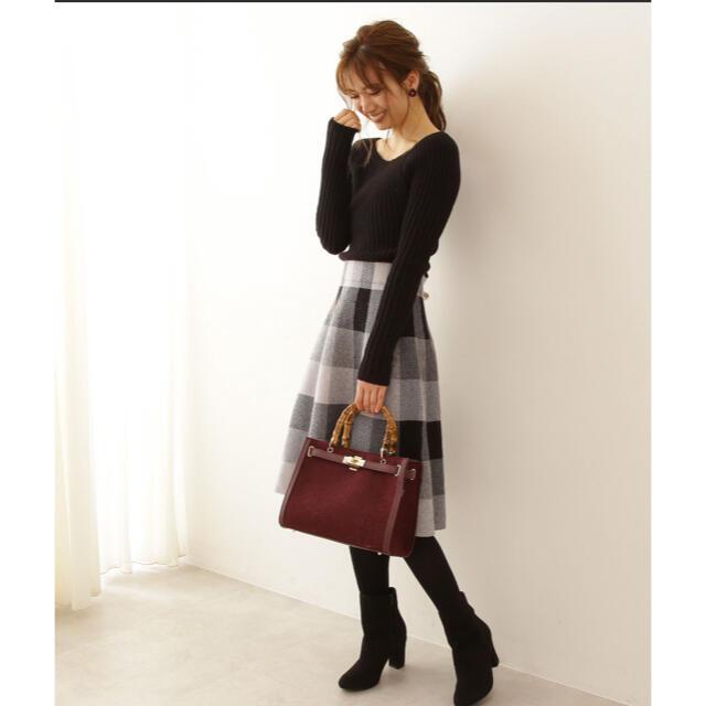 PROPORTION BODY DRESSING(プロポーションボディドレッシング)のチェックニットワンピース レディースのワンピース(ひざ丈ワンピース)の商品写真