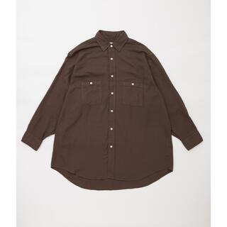 COMOLI - HERILL(ヘリル) コットンカシミヤ ワークシャツ サイズ3