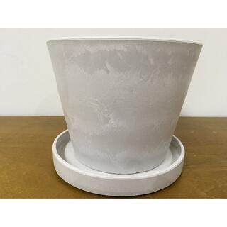 植木鉢/皿 プラスチック FRP 5.5号鉢/皿 セット 白 黒 8個組(その他)