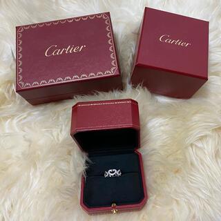Cartier - 美品 カルティエ Cハート リング ダイヤ WG 8号