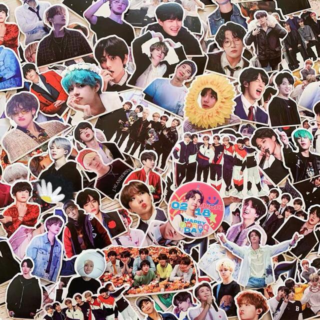 BTS防弾少年団シールステッカー セット メンバー全員あり106枚 エンタメ/ホビーのタレントグッズ(アイドルグッズ)の商品写真