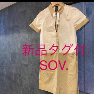 ダブルスタンダードクロージング(DOUBLE STANDARD CLOTHING)の新品タグ付ダブルスタンダードシャツワンピース(ひざ丈ワンピース)