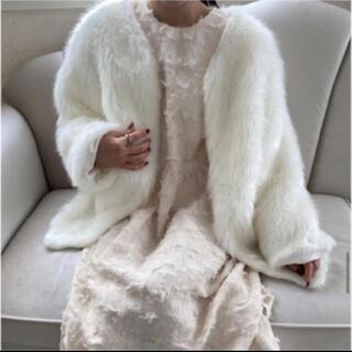 スナイデル(snidel)のAcka original feather coat オリジナルフェザーコート(毛皮/ファーコート)