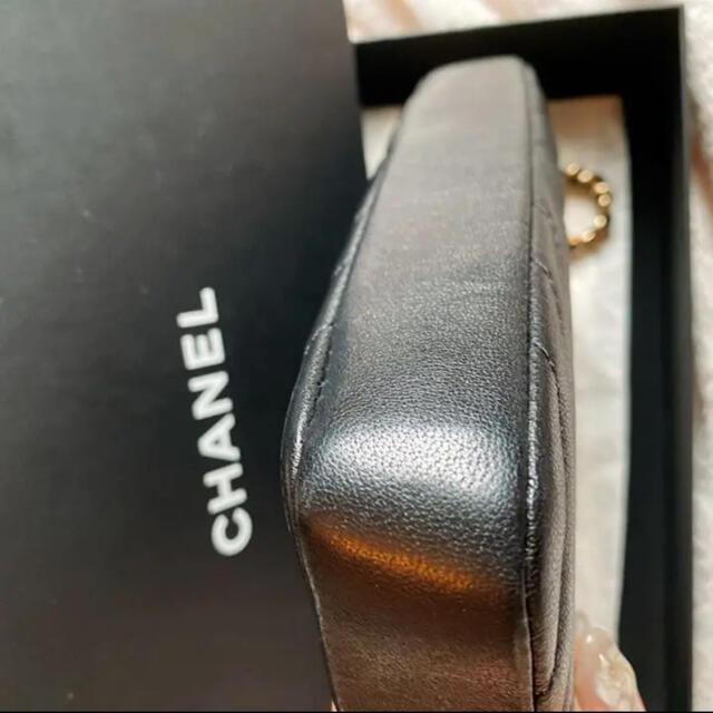 CHANEL(シャネル)の限定値下!CHANEL シャネル シェブロンチェーンウォレット ブラック 長財布 レディースのバッグ(ショルダーバッグ)の商品写真