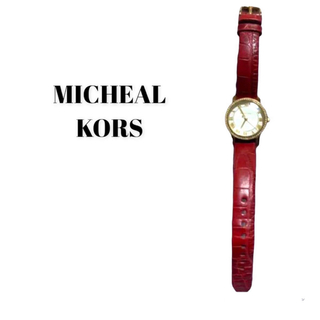 マイケルコース(Michael Kors)のマイケルコース 腕時計 赤ベルト(腕時計)