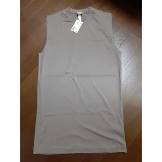 エイチアンドエム(H&M)の新品 H&M Tシャツ ジャージーノースリーブワンピース グレージュ(ミニワンピース)