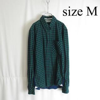 マーカウェア(MARKAWEAR)の古着 MARKAWARE マーカウェア ドッキングデザイン 長袖チェックシャツ(シャツ)