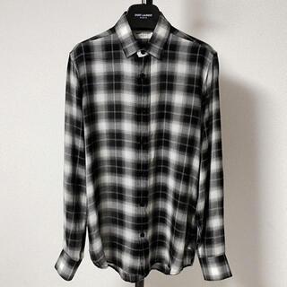 サンローラン(Saint Laurent)の【美品】SAINT LAURENT サンローラン チェックシャツ 37(シャツ)