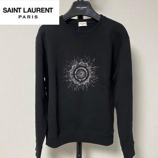 サンローラン(Saint Laurent)の【新品未使用】SAINT LAURENT サンローラン スウェット 黒(スウェット)