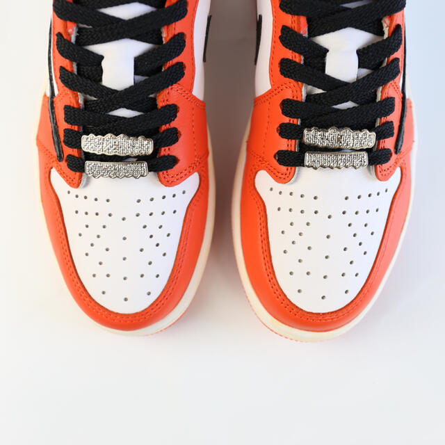 "NIKE(ナイキ)のNIKE JORDAN 1 LOW OG ""STARFISH"" カスタム メンズの靴/シューズ(スニーカー)の商品写真"
