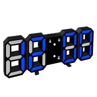 LED デジタル 壁掛け時計 目覚まし時計