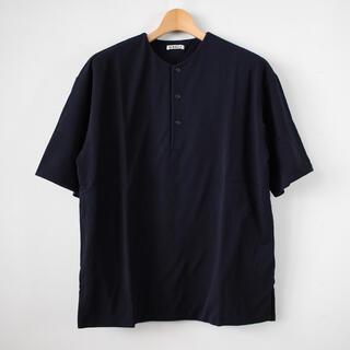 SUNSEA - AURALEE DOUBLE CLOTH HENLEY NECK