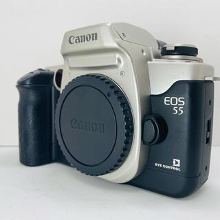 キヤノン(Canon)の【美品】Canon EOS55 フイルムカメラ(フィルムカメラ)