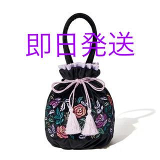 アナスイ(ANNA SUI)の【新品未開封】Francfranc×ANNA SUI コラボ 巾着バッグ 黒(ハンドバッグ)