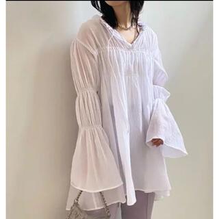 Ameri VINTAGE - ameri vintage  Double puff sleeve blouse