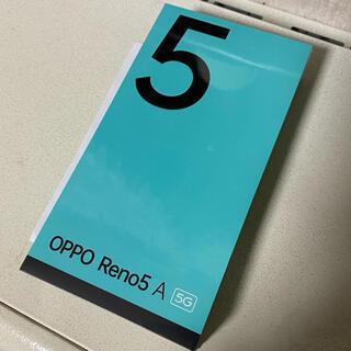 OPPO - oppo Reno5 A 新品未開封 国内正規品 simフリー版