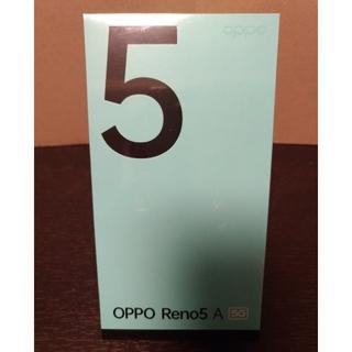 OPPO - OPPO Reno5 A アイスブルー SIMフリー 新品未開封