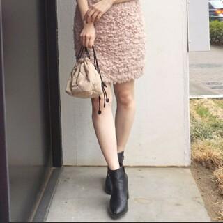 マーキュリーデュオ(MERCURYDUO)のMERCURYDUO☆フェイクファースカート☆プードル編み☆マーキュリーデュオ(ミニスカート)