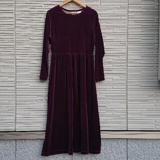 ロキエ(Lochie)の【80'S・Vintage】PURPLE VELOUR DRESS(ロングワンピース/マキシワンピース)