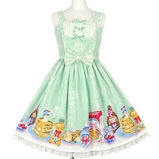 アンジェリックプリティー(Angelic Pretty)のHoney Cake切替ジャンパースカート(ひざ丈ワンピース)