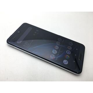 シャープ(SHARP)のSIMフリー美品au AQUOS R2 SHV42 ブラック228(スマートフォン本体)