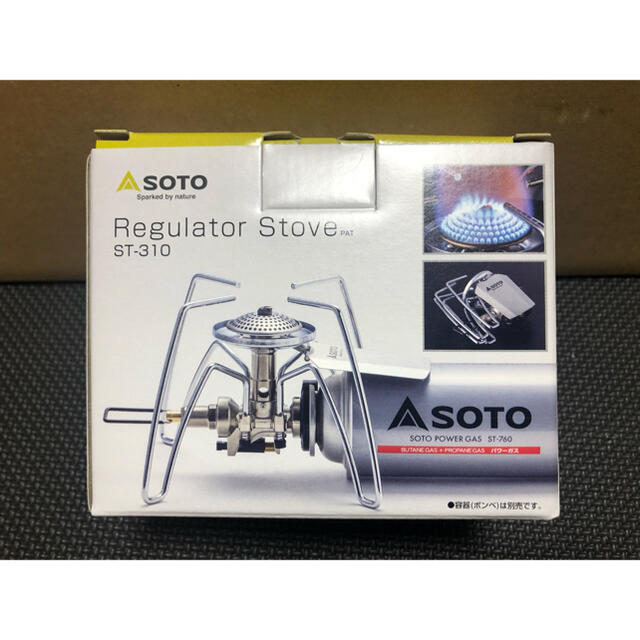 新富士バーナー(シンフジパートナー)のソト シングルバーナー レギュレーターストーブ ST-310 SOTO 新品 スポーツ/アウトドアのアウトドア(調理器具)の商品写真