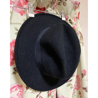 ウィゴー(WEGO)のWEGOの黒のスウェード生地の帽子 ウィゴー(ハット)