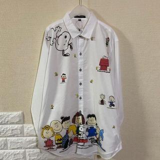 【新品】 スヌーピー ボタン シャツ M