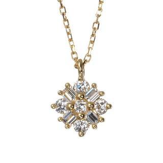 agete - BELLESIORA K18 ダイヤモンド ネックレス 0.22ct