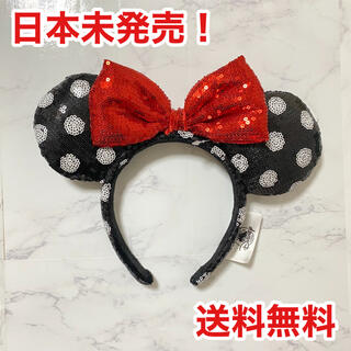 Disney - 再入荷 ディズニーカチューシャ スパンコール 海外ディズニー ミニー 水玉