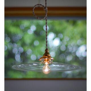 新品未使用 蠣崎マコト ガラス ランプシェード 照明