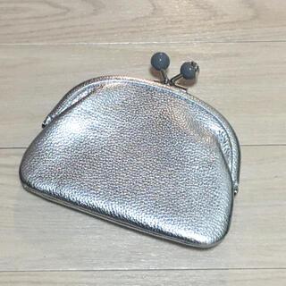 ear PAPILLONNER - 未使用 イアパピヨネ  財布 ウォレット 銀 シルバー がま口 ソフトレザー