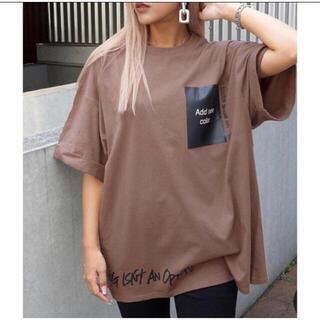 アナップ(ANAP)の☆  ANAP  ☆ プリントロールアップオーバーTシャツ(Tシャツ(半袖/袖なし))