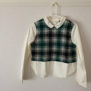 ジーナシス(JEANASIS)のジーナシス♡ツイードコンビシャツ(シャツ/ブラウス(長袖/七分))