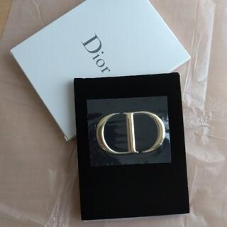 Dior - 新品未使用品◎Dior ディオール ノベルティ ミラー ゴールドロゴ ベロア素材