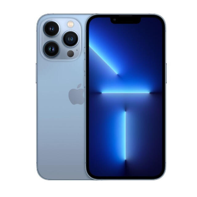 iPhone(アイフォーン)のiPhone 13 Pro 128GB シエラブルー MLUK3J/A 新品 スマホ/家電/カメラのスマートフォン/携帯電話(スマートフォン本体)の商品写真
