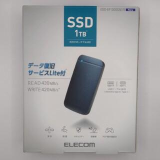 ELECOM 外付けポータブルSSD 1TB ESD-EF1000GNVR
