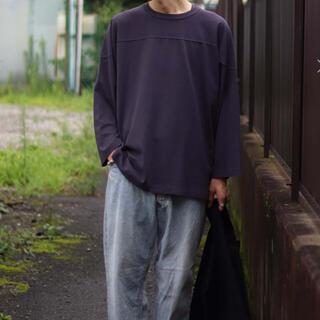 コモリ(COMOLI)の【未使用】21AW COMOLI フットボールTシャツ -white-(Tシャツ/カットソー(七分/長袖))
