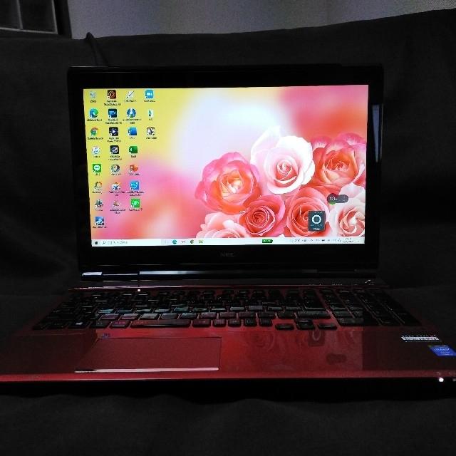 NEC(エヌイーシー)の高スペック/第4世代i7/タッチパネル/16GB/SSD/美品/ノートパソコン スマホ/家電/カメラのPC/タブレット(ノートPC)の商品写真