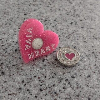 ビバハート(VIVA HEART)のVIVA HEART ビバハートゴルフマーカーハート型ピンク(その他)