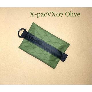 X-pacVX07オリーブ ティッシュポーチ(登山用品)