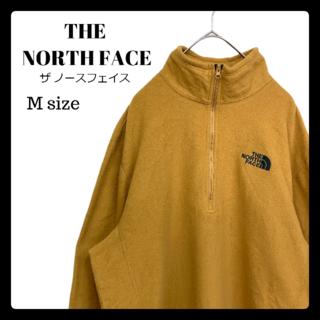 THE NORTH FACE - ザ ノースフェイス ハーフジップ フリース からし色 黄土色 Mサイズ 古着