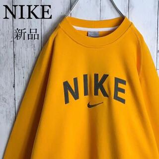 NIKE - 【新品】【希少カラー】ナイキ アーチロゴ 刺繍ロゴ スウェット M 山吹